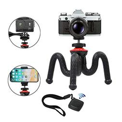 Flexible Tripod, Vomercy Travel Tripod Stand with Bluetooth