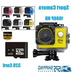 Full HD 1080P Sports Waterproof Camera 12MP 140° Video Digi