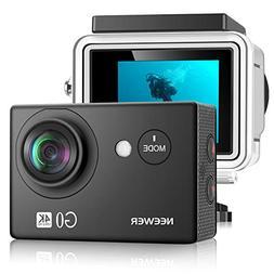Neewer G0 HD 4K Action Camera 12MP, 98 ft Underwater Waterpr