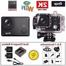 GitUp GIT2 Pro 2K Action Camera with GoPro / SJCam Accessori