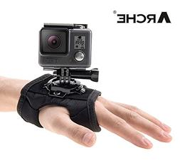 ARCHE Glove Style Mount Palm Strap Degree 360 Rotating Sport