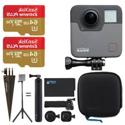 GoPro Fusion + 2X SanDisk 64GB Extreme UHS-I microSDXC Memor