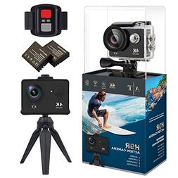 4K Action Camera, Waterproof WiFi Sports Camera Full HD 4K 2