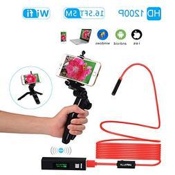 ANPOLLO Professional Handheld WIFI Endoscope, HD 1200P Wirel