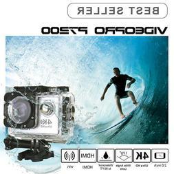 VIDEOPRO HD 4K 30fps WIFI Underwater Sports Camera 16MP 2 in