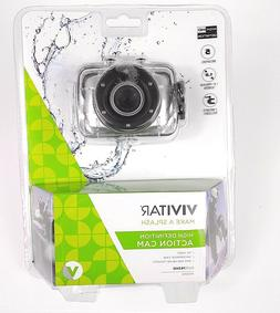 Vivitar HD Action Camera Waterproof Case DVR783HD 5 Megapixe