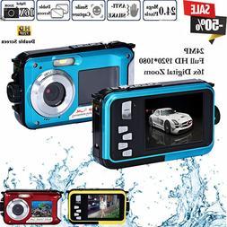 hd double screen waterproof camera 24mp 16x