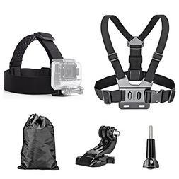 TEKCAM Head Strap Chest Harness Mount Accessories Kit Compat