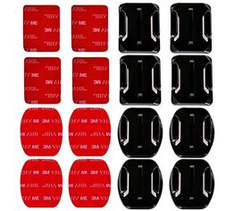 AxPower 16 PCS Helmet 3M Adhesive Pads Sticker Flat Curved M