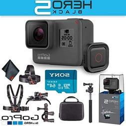 GoPro Hero5 Black with Voice Activated Remote + 64 GB Memory