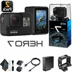 GoPro HERO7 Black  Waterproof Action Camera +Touch Screen, 4
