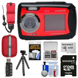 "Polaroid IE090-RED Waterproof Digital Camera with 2.7"" LCD"