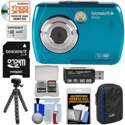 Polaroid iS048 HD Waterproof Digital Camera Kit Teal