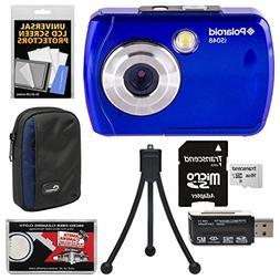 Polaroid iS048 Waterproof Digital Camera  with 16GB Card + C