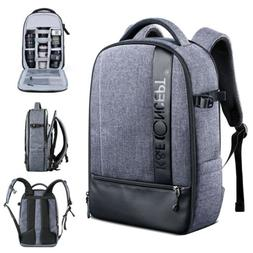 Large Camera Backpack Bag Laptop Waterproof for Canon DSLR S