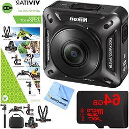 Nikon KeyMission 360 4K Ultra HD Action Camera w/ Built-In W