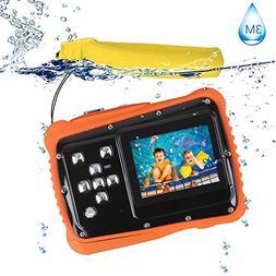 Kids Camera, Digital Waterproof Camera for Children, 12MP HD