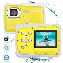 BYbrutek Kids Camera, 12MP HD Children Underwater 3M Waterpr