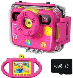Ourlife Kids Camera, Selfie Waterproof Action Child Gift Cam
