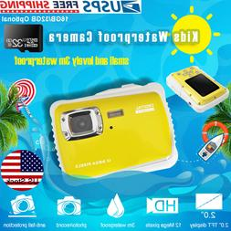 Kids Digital HD Camera 12MP Waterproof Underwater Action Vid