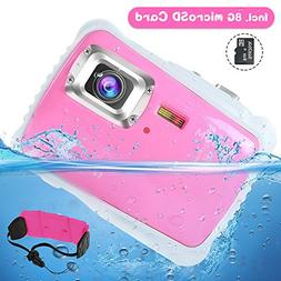 AIMTOM Kids Underwater Digital Waterproof Camera with 8G mic