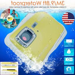 Kids Waterproof Digital Camera 12MP HD Video Camcorder Child