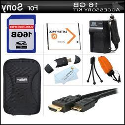 16GB Accessories Kit For Sony Cyber-Shot DSC-TX10 Waterproof