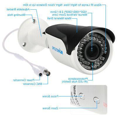 KKmoon 1080P 2.0MP Indoor Outdoor CCTV Camera