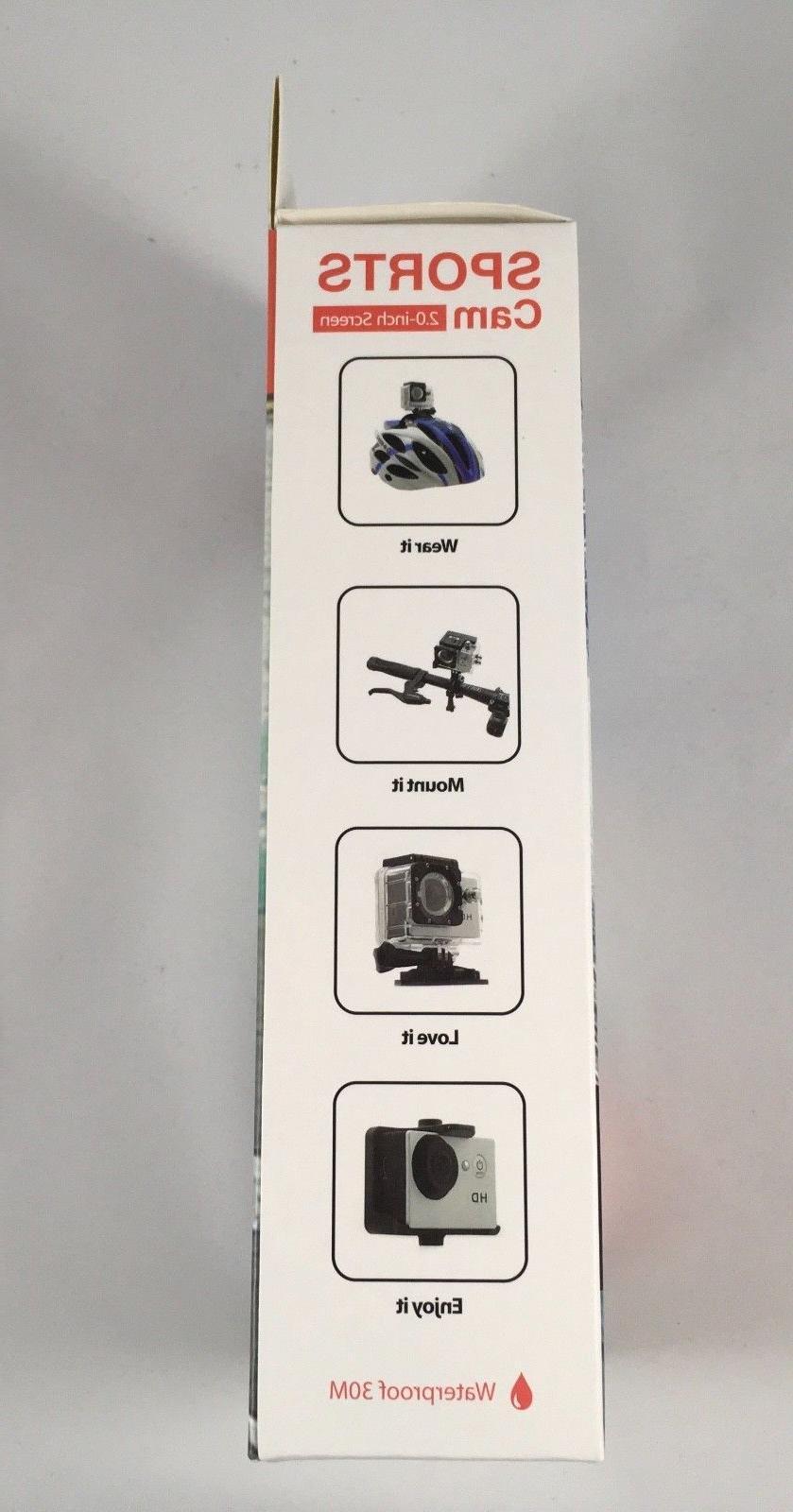 1080p HD Action Camera helmet mount