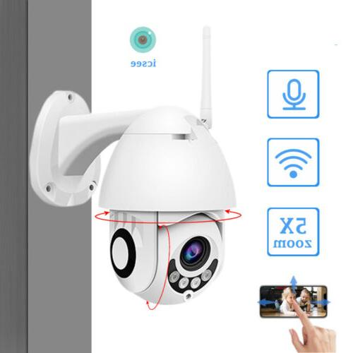 1080P HD WiFi PTZ Pan Security IP IR Night Vision