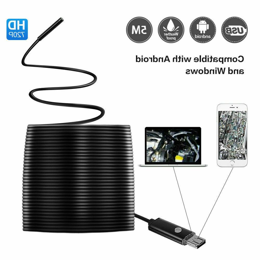 15ft usb endoscope borescope 6 led waterproof