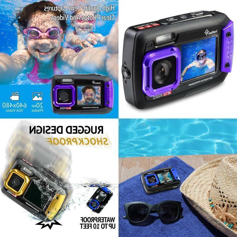Ivation 20MP Underwater Waterproof Shockproof Digital Camera