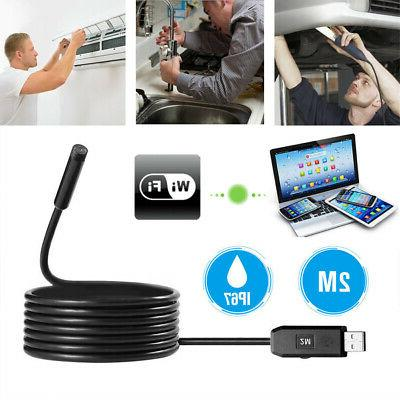 2m usb waterproof endoscope borescope snake inspection