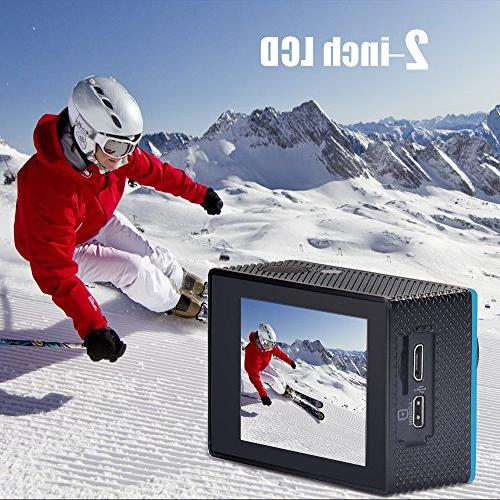"Yuntab HD 1080P 12 Sport Mini Action Camera 2.0"" LCD 170° Angle 30M WiFi Control Outdoor Sports"