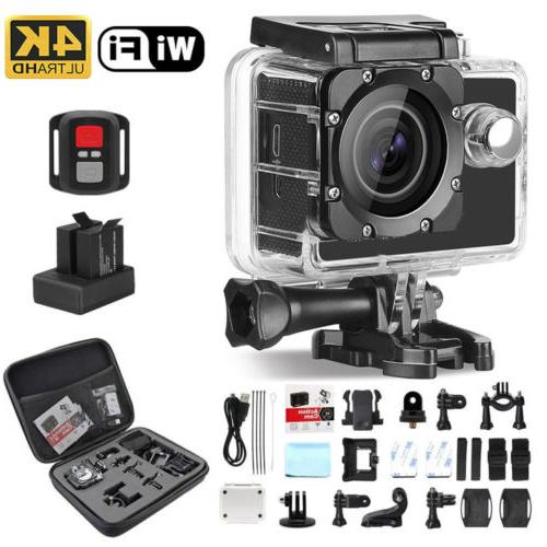 4K Action Camera HD Sports Camera Wifi Waterproof Helmet+Rem