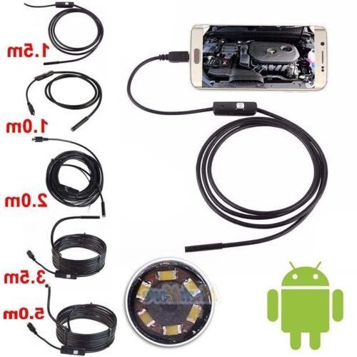 5.5mm Waterproof Snake Borescope USB Inspection