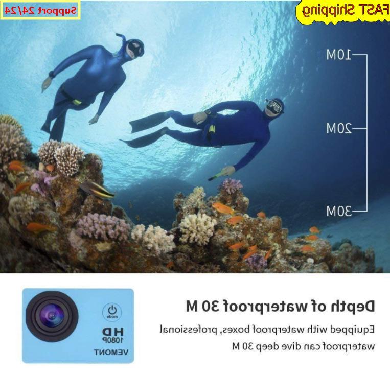 5 Gopro Hero Full Sports Waterproof Degree Blue
