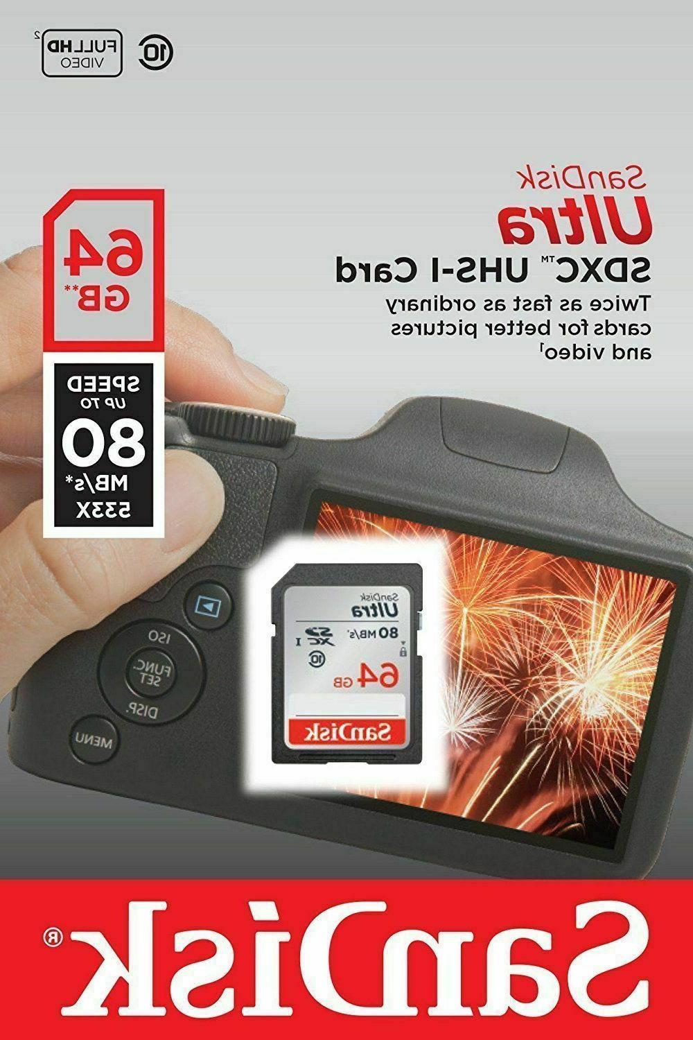 64GB SD SDHC 10 SanDisk Ultra Nikon