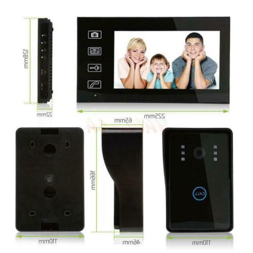 """7"""" design Video Door Doorbell IR 1-Camera"""