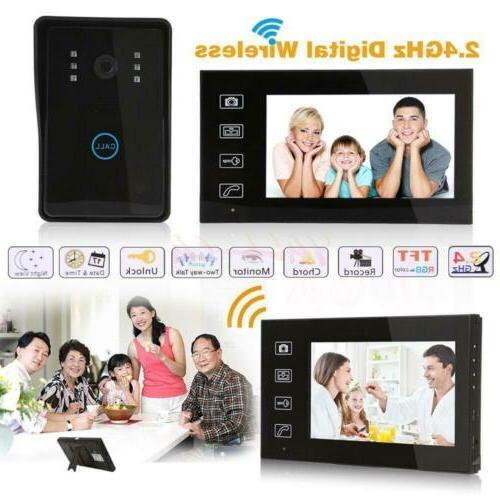 7 waterproof design wireless video door phone