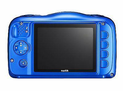 Nikon - W100 13.2-megapixel Blue