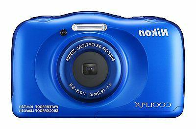 Nikon - Coolpix W100 13.2-megapixel Digital Camera - Blue