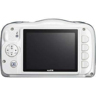 Nikon - W100 13.2-megapixel Digital Camera White
