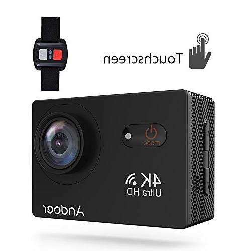 Sports Camera, Andoer 4K Touchscreen Action Camera 2inch LCD