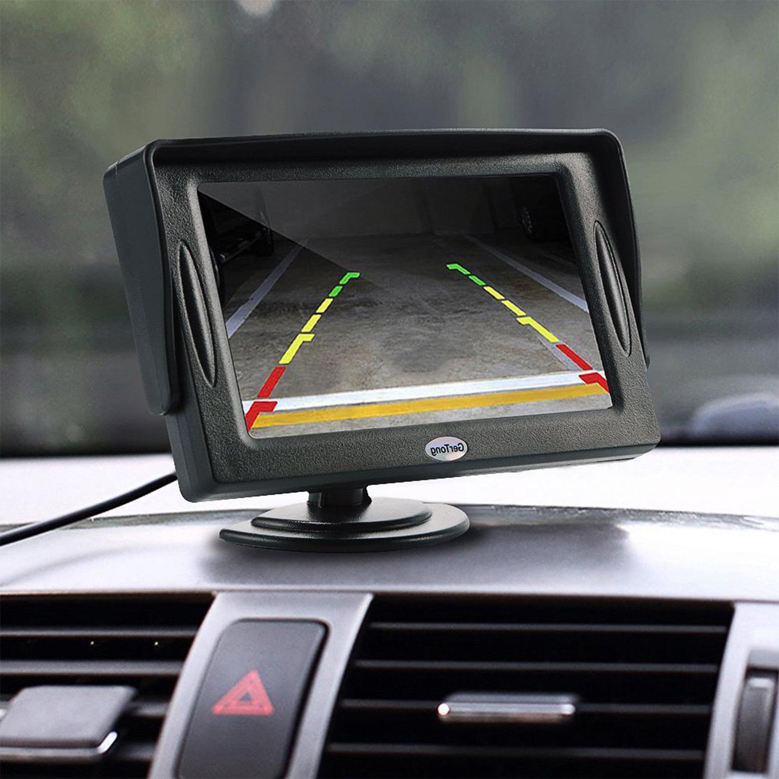 "Universal Backup Camera w/ 4.3"" Car Wired Waterproof Rear"