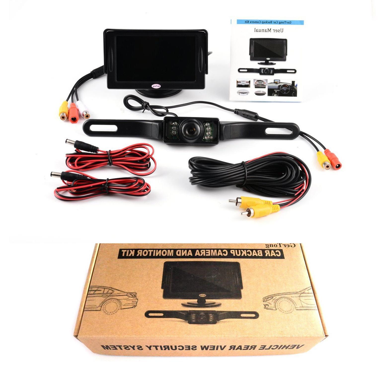 "Universal Backup Camera w/ 4.3"" Car Kit Rear"