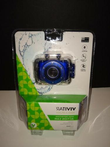 Vivitar HD Action Camera, DVR781HD Blue HD Action Camera