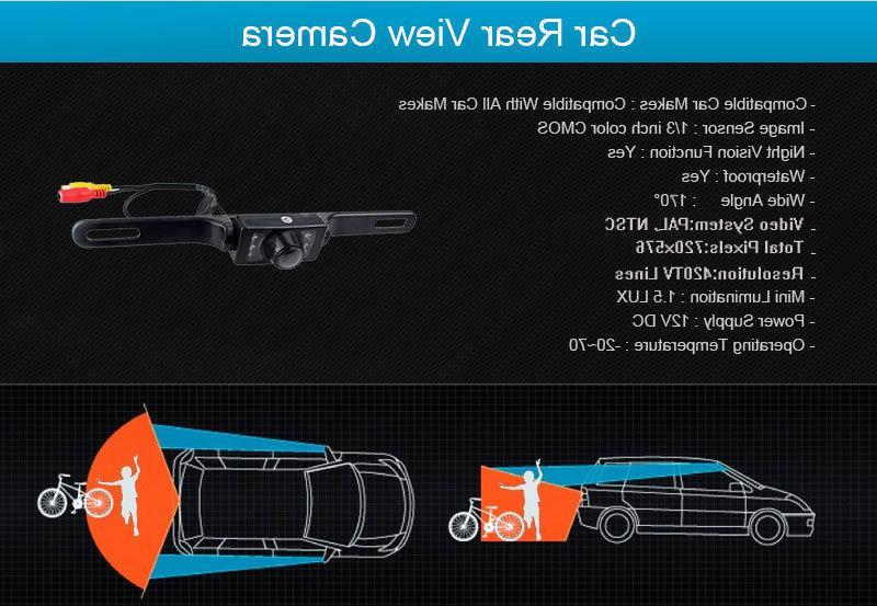 Waterproof License Plate Reverse Color Car