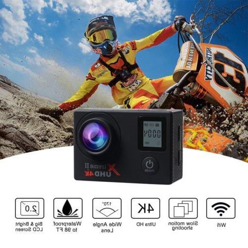 Campark Action Camera 4K WiFi Sports Cam Waterproof 170°