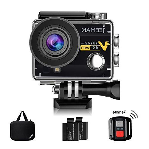 Jeemak Action Camera 4K 16MP Underwater Cam WiFi Waterproof